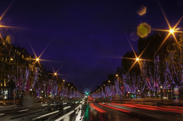 Christmas decoration on Champs Elysee