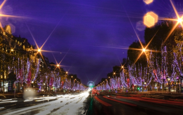 Christmas on Champs Elysees