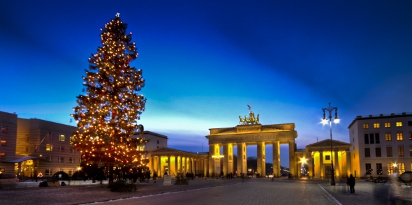 Berlin Brandenburger Tor at Christmas