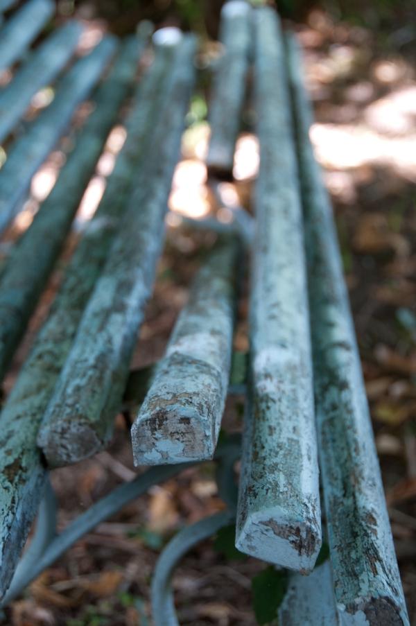 Broken Bench in Sainte Feyre