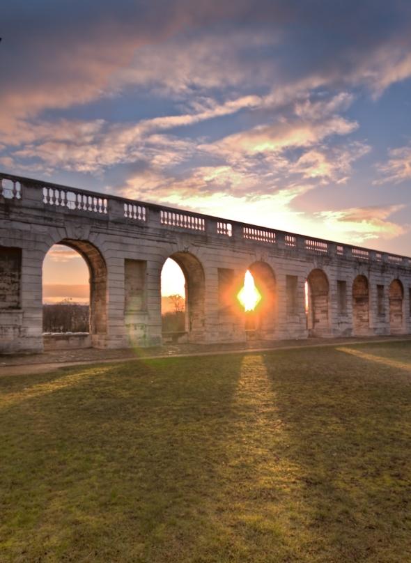 Sunset a Chateaux de Vincennes