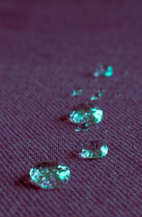 Drops on Cloth
