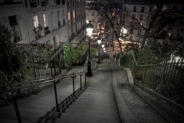 Walking down Montmartre Paris