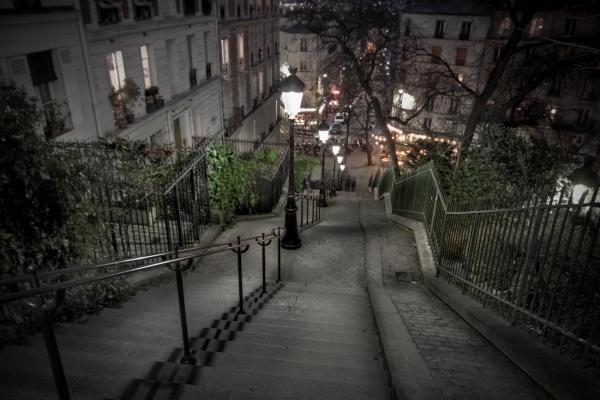 Walking down Montmartre Paris