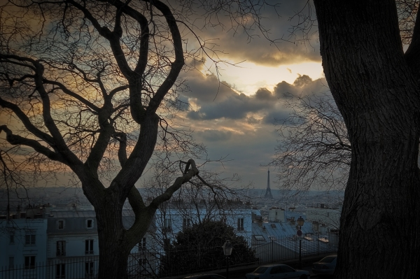 Eiffel Tower as seen from Montmartre