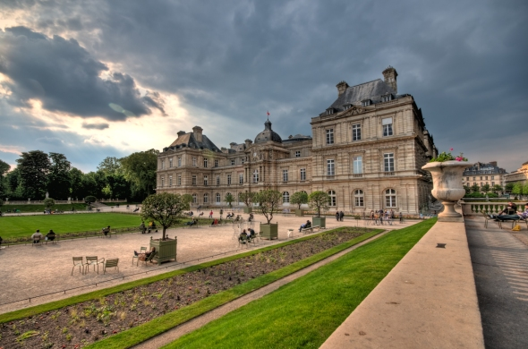 Le Senat in Parc Luxembourg in Paris