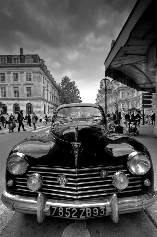 Peugeot 203 Paris HDR Black and White Martin Soler