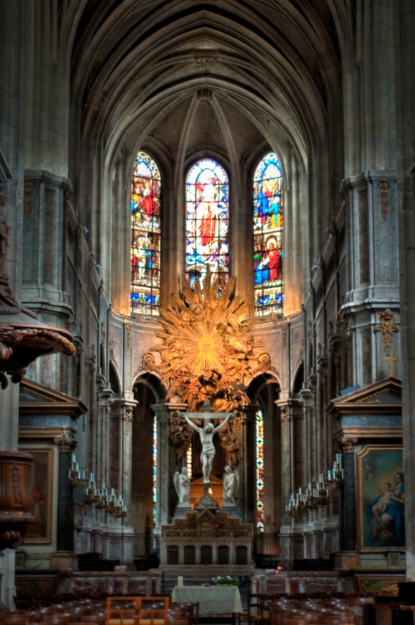 Church in the Marais Paris - HDR