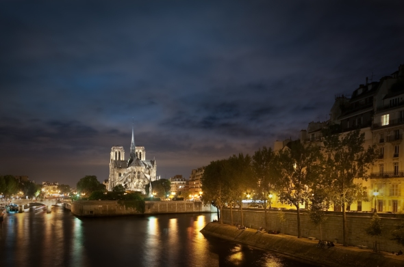 Notre Dame de Paris in HDR on a Summer Night