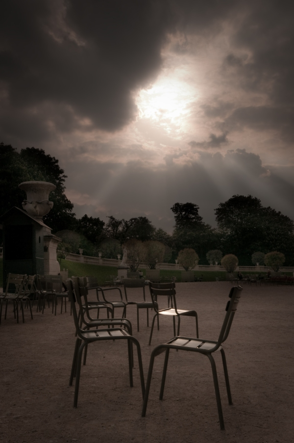 Empty Chairs at Luxembourg Parc, Paris