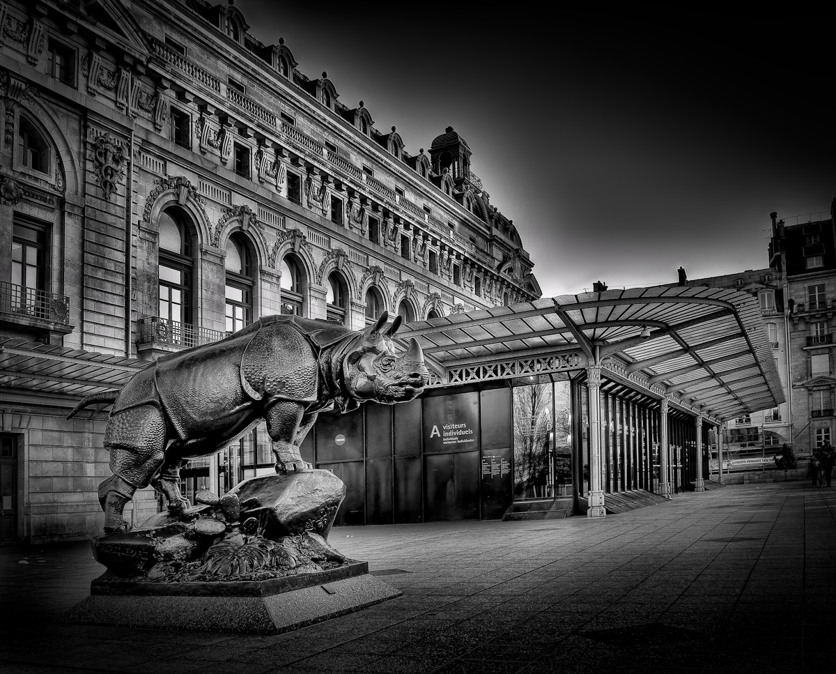 Musee dorsay black and white hdr paris martin soler photography