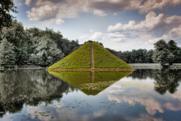 Pyramid of Branitz Parc in Cottbus, Germany