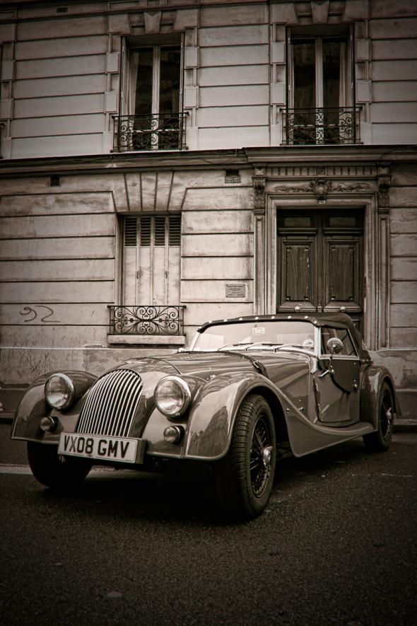 Old car in Montrouge, Suburb of Paris