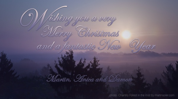 Sunrise in Chantilly, Christmas wishes from Martin Soler