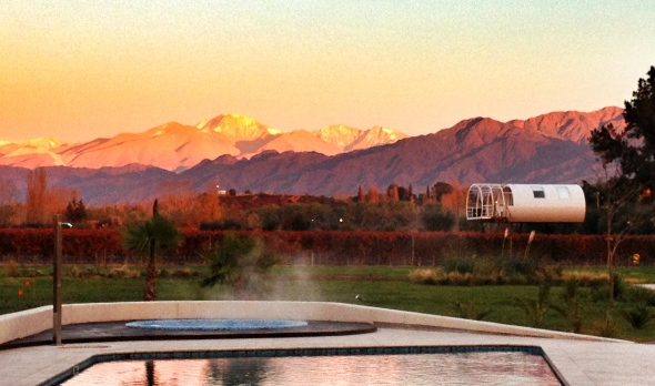 Sunrise on the Andes mountains.