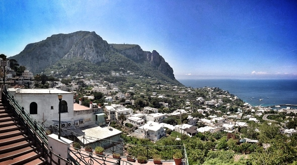 Capri island as seen from the main square