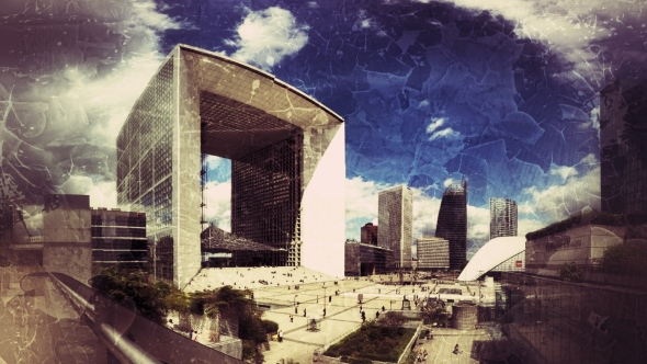 La Defense Paris, with filter